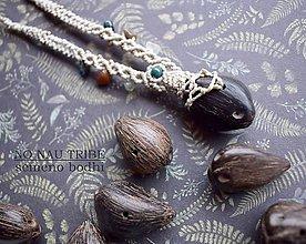 Náhrdelníky - Náhrdelník so semenom Bodhi - 9141220_