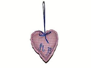 Drobnosti - srdce - ihelníček, či dekorácia (Ružová) - 9139886_