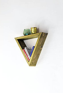 Nábytok - Trojuholníková polica - stredná veľkosť - 9141842_