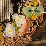 Dekorácie - Jarný šiškový veniec na dvere - 9144210_