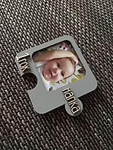 Magnetky - Narodeniny - Drevená magnetka s fotkou - Puzzle - 9143869_