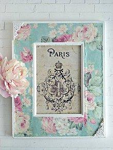 Rámiky - Kvety z Paríža rámik - 9141794_
