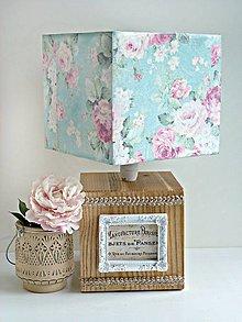 Svietidlá a sviečky - Kvety z Paríža lampa - 9141827_