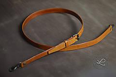 Kožený popruh - polotovar na kabelku - hnedý range.