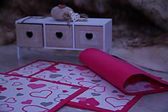 Úžitkový textil - Valentínske srdiečkové prestieranie IV. - 9142911_