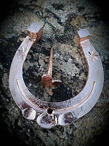 Dekorácie - medená kovaná podkova - 9142966_