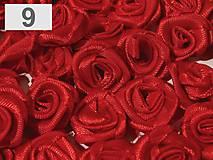 Galantéria - saténové ružičky 1,5 cm - 9141533_