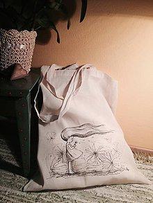 Nákupné tašky - Nákupná taška Dievča s púpavou - 9142209_