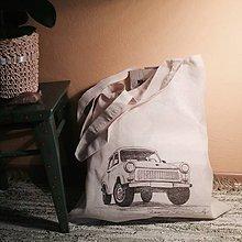 Tašky - Nákupná taška Trabantom okolo sveta - 9142240_