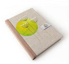 Papiernictvo - Maľovaný zápisník Žltý kruh - A5 - 9141754_