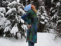 """Mikiny - """"Knitted Mountain´s Lake"""" termo mikina - 9141741_"""
