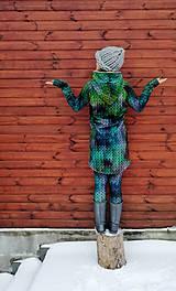 """Mikiny - """"Knitted Mountain´s Lake"""" termo mikina - 9142800_"""