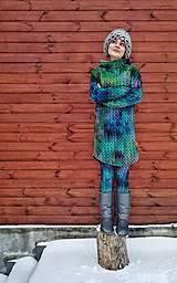 """Mikiny - """"Knitted Mountain´s Lake"""" termo mikina - 9143326_"""