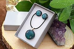 Sady šperkov - Tmavozelená sada sklenených šperkov - 9143070_