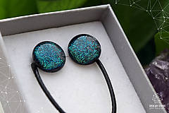 Sady šperkov - Tmavozelená sada sklenených šperkov - 9143071_