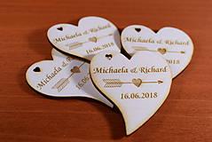 Darčeky pre svadobčanov - Svadobná magnetka drevená gravírovaná 146 - 9139870_
