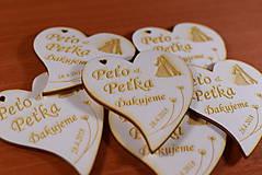Darčeky pre svadobčanov - Svadobná magnetka drevená gravírovaná 147 - 9141661_