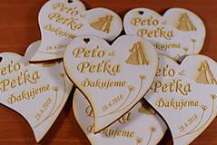 Darčeky pre svadobčanov - Svadobná magnetka drevená gravírovaná 147 - 9141663_