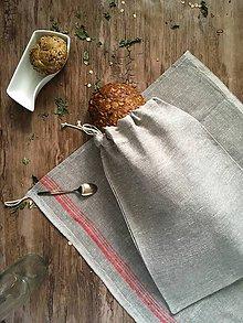 Úžitkový textil - Ľanová vidiecka súprava - 9140317_