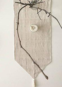 Úžitkový textil - Štóla z ľanového plátna 180x40cm - 9141292_