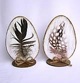 Dekorácie - Veľkonočné vajíčko-pierko - 9149355_