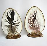 Dekorácie - Veľkonočné vajíčko-pierko - 9149357_