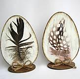 Dekorácie - Veľkonočné vajíčko-pierko - 9149427_