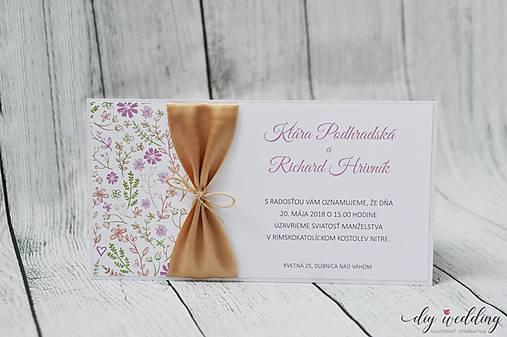 Svadobné oznámenie Letná láska II