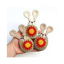 Dekorácie - Zajačikové kraslice s rozkvitnutými bruškami - 9147262_