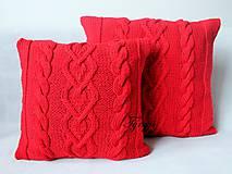 Červený vankúšik ♡