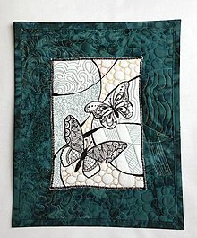 Obrázky - Nástenný art quilt - 37 x 30 cm - 9145319_