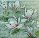- S1145 - Servítky - kvet, magnólia, puk, púčik, kvitnúca, jar - 9144851_