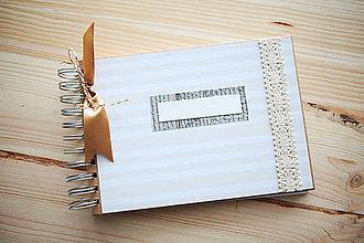Papiernictvo - Kniha hostí / svadobný fotoalbum - 9146357_
