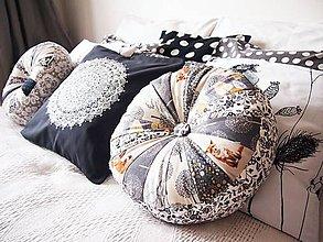 Úžitkový textil - Pampúšik - natur - béžovo-okrový - 9147962_