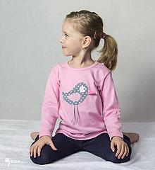 Detské oblečenie - tričko (dlhý rukáv) VTÁČIK LETÁČIK - 9144648_