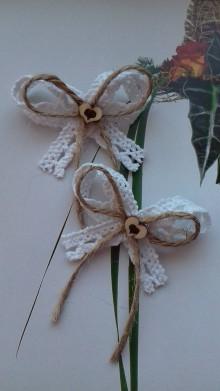 Pierka - svadobné pierko malé ,, vintage ,, - 9145164_