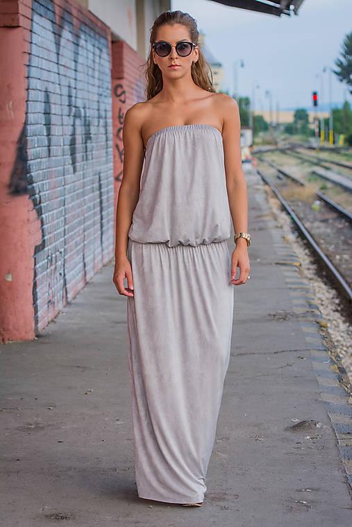 Ležérne šaty svetlošedé.   veronikaIN FASHION - SAShE.sk - Handmade Šaty e569a718ee6