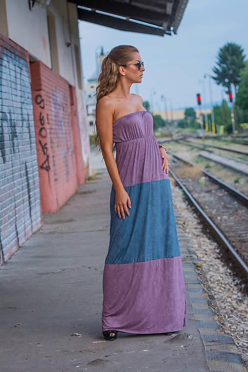 Dvojfarebné dlhé letné šaty.   veronikaIN FASHION - SAShE.sk ... 2c4a4889fca