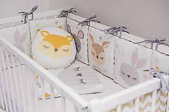 Textil - Samostatná poduška k mantinelu Sleeping Friends (myška) - 9148379_