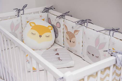 Textil - Samostatná poduška k mantinelu Sleeping Friends - 9148379_