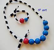 Sady šperkov - Kuličky  a proužky - souprava - 9149252_