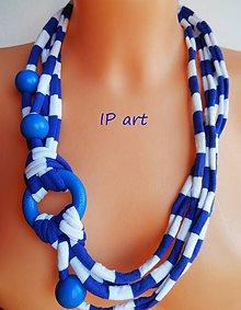 Náhrdelníky - Námořnický úpletový náhrdelník s kolečkem - 9149224_