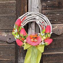 Dekorácie - Veľkonočný venček na dvere - 9144279_