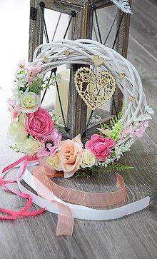 Dekorácie - Svadobný venček na dvere - 9147768_