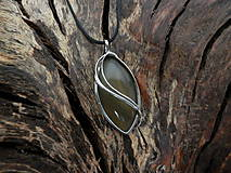 Náhrdelníky - V hlbokom lesnom tichu (achát) - 9147985_