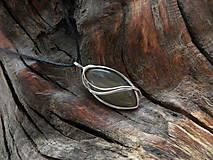 Náhrdelníky - V hlbokom lesnom tichu (achát) - 9147986_
