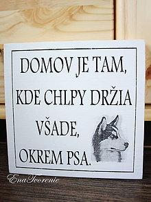 Tabuľky - Tabuľka Domov chlpatý - 9148258_