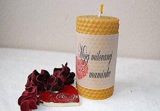 Svietidlá a sviečky - Sviečka s originálnym venovaním veľká (Vlastný text) - 9146781_