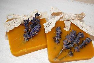 Dekorácie - Vonný včelí vosk v krabičke - levanduľa - 9149441_