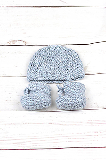 Detské súpravy - Modrá súprava zimná EXCLUSIVE FINE - 9145220_